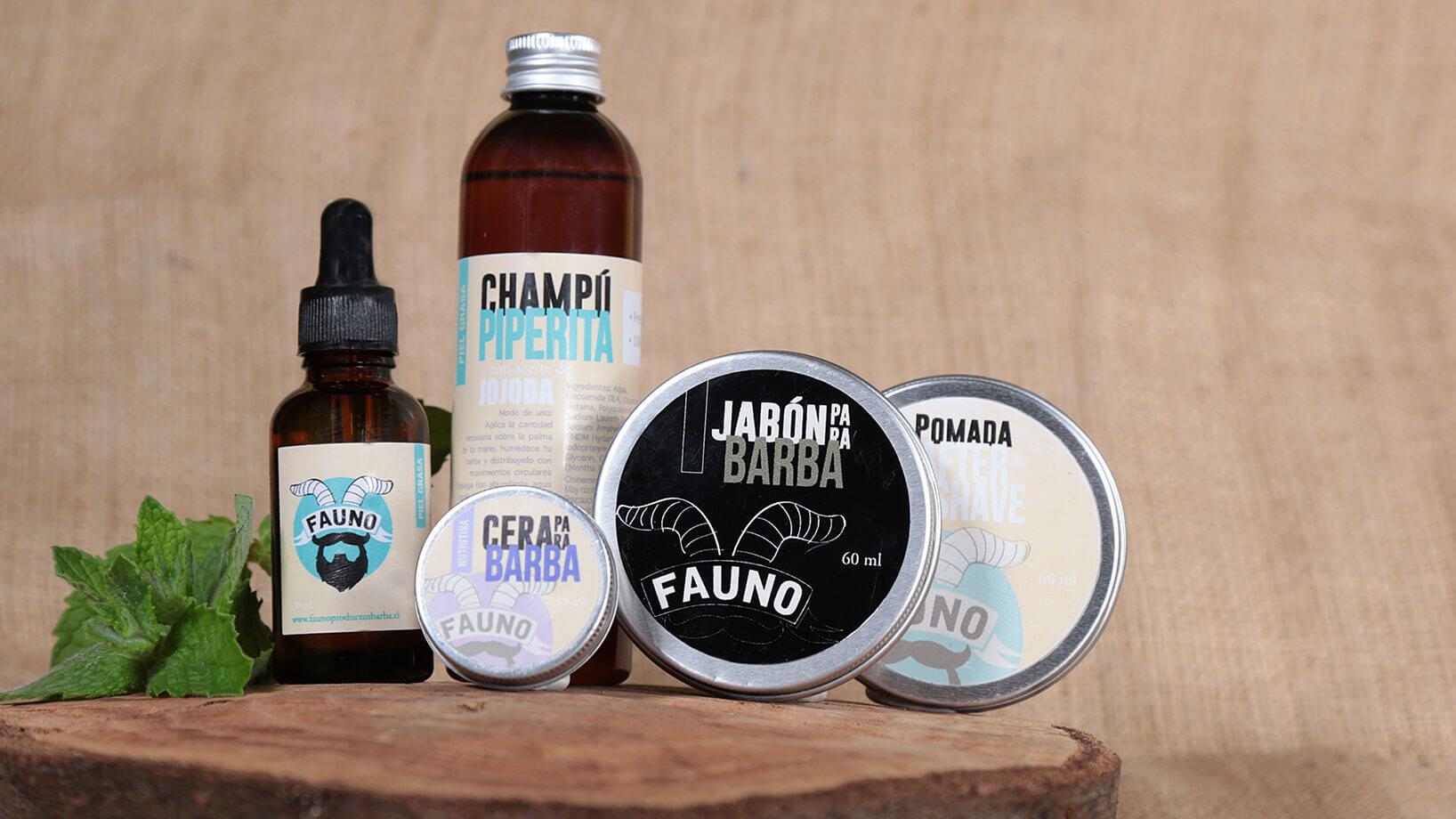 Productos para Barberia Fauno sesión de fotografias de productos de catálogo